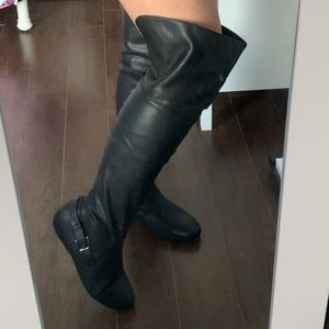 Shoes - Tall Pleather Boots